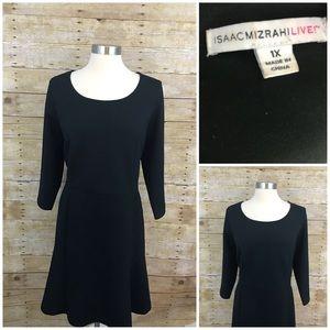 3/25 SALE Isaac Mizrahi Live! Textured Dress 1X